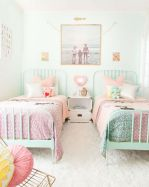 Cool kids bedroom with pink colour 28