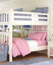 Cool kids bedroom with pink colour 30