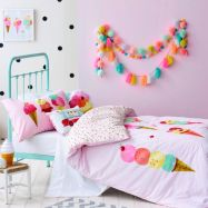 Cool kids bedroom with pink colour 31