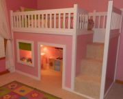 Cool kids bedroom with pink colour 33
