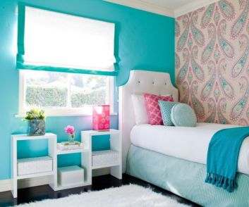 Cool kids bedroom with pink colour 38
