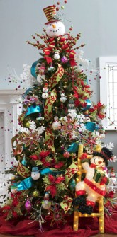 Brilliant ideas christmas tree decoration ideas with ribbon 18