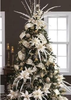 Brilliant ideas christmas tree decoration ideas with ribbon 20