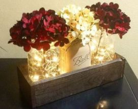Creative diy christmas table centerpieces ideas 09