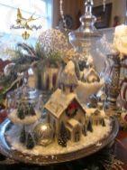 Creative diy christmas table centerpieces ideas 10