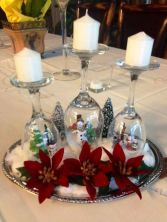 Creative diy christmas table centerpieces ideas 14