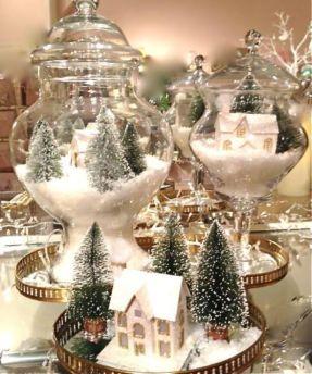 Creative diy christmas table centerpieces ideas 38