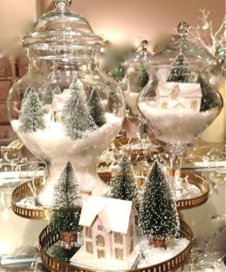 Creative diy christmas table centerpieces ideas 38