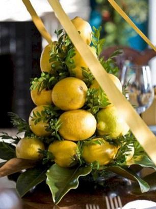 Easy christmas fruit tree centerpieces ideas 01