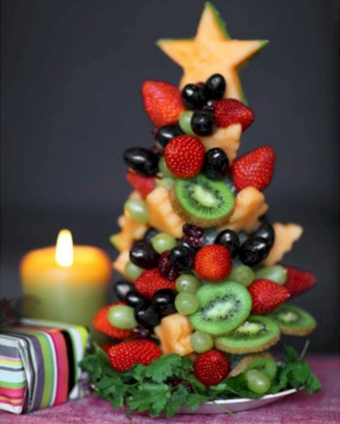 Easy christmas fruit tree centerpieces ideas 02