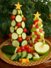 Easy christmas fruit tree centerpieces ideas 18