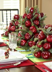 Easy christmas fruit tree centerpieces ideas 22