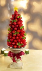 Easy christmas fruit tree centerpieces ideas 27