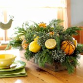 Easy christmas fruit tree centerpieces ideas 39