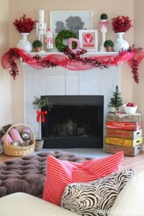 Elegant white fireplace christmas decoration ideas 01