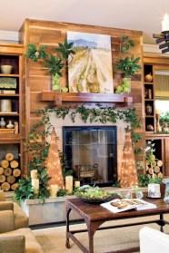Elegant white fireplace christmas decoration ideas 05