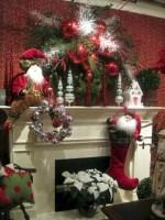 Elegant white fireplace christmas decoration ideas 12