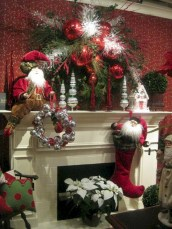 Elegant white fireplace christmas decoration ideas 12