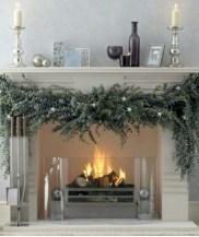 Elegant white fireplace christmas decoration ideas 17