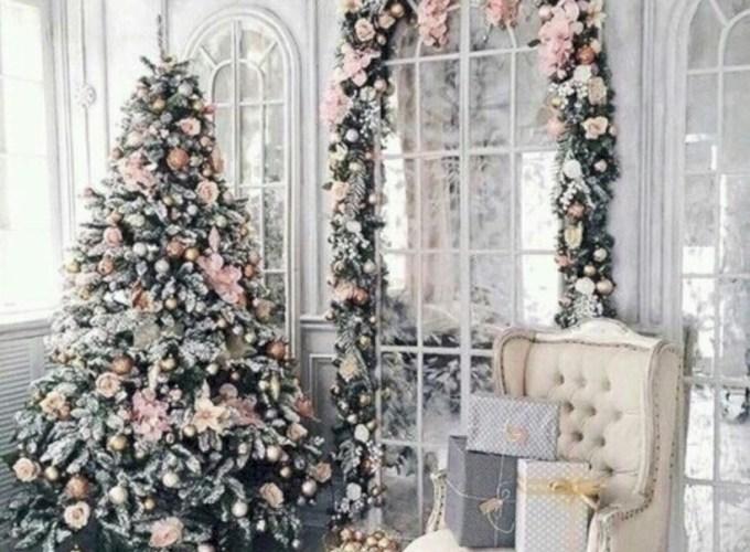 Inspiring chabby chic christmas decoration ideas 01