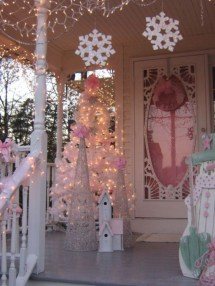 Inspiring chabby chic christmas decoration ideas 05