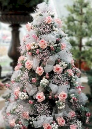 Inspiring chabby chic christmas decoration ideas 13