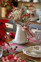 Inspiring farmhouse christmas table centerpieces ideas 17