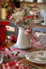 Inspiring farmhouse christmas table centerpieces ideas 17
