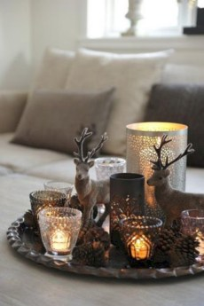 Minimalist christmas coffee table centerpiece ideas 18