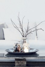 Minimalist christmas coffee table centerpiece ideas 38