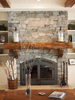 Modern farmhouse fireplace christmas decoration ideas 05
