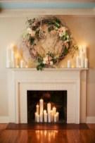 Modern farmhouse fireplace christmas decoration ideas 15