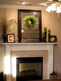 Modern farmhouse fireplace christmas decoration ideas 23