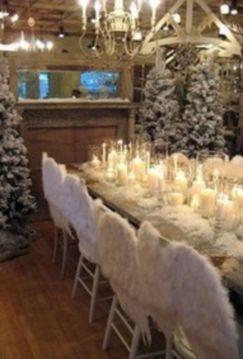 Romantic christmas tree wedding centerpieces ideas 01