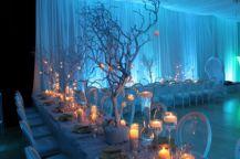 Romantic christmas tree wedding centerpieces ideas 02