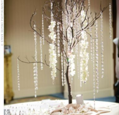 Romantic christmas tree wedding centerpieces ideas 09