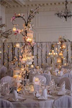 Romantic christmas tree wedding centerpieces ideas 10