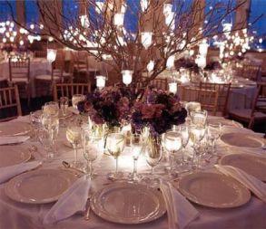 Romantic christmas tree wedding centerpieces ideas 18