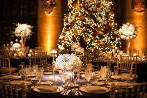 Romantic christmas tree wedding centerpieces ideas 19