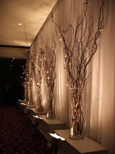 Romantic christmas tree wedding centerpieces ideas 20