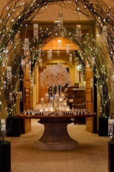 Romantic christmas tree wedding centerpieces ideas 27