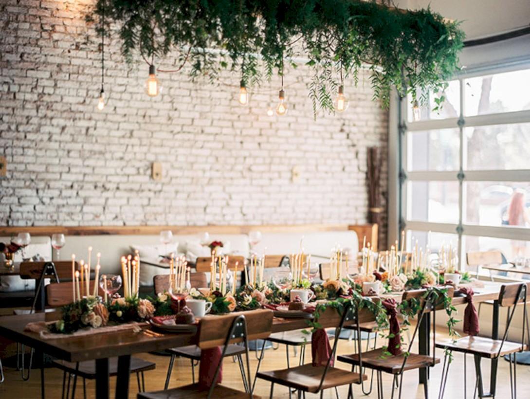 Romantic winter vintage wedding decoration ideas (10)