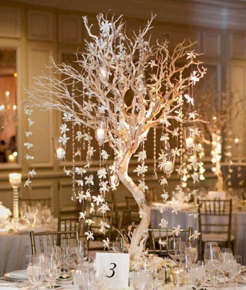 Spectacular Winter Wonderland Wedding Decoration Ideas 15 Round
