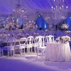 Spectacular winter wonderland wedding decoration ideas (7)