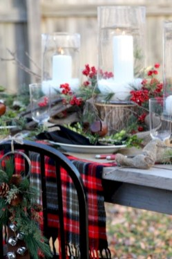 Stylish christmas centerpieces ideas with ornaments 05