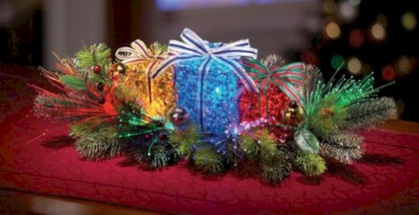 Stylish christmas centerpieces ideas with ornaments 25