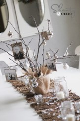 Stylish christmas centerpieces ideas with ornaments 26