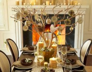 Stylish christmas centerpieces ideas with ornaments 40