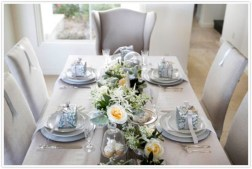 Stylish silver and white christmas table centerpieces ideas 43