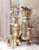 Stylish silver and white christmas table centerpieces ideas 44